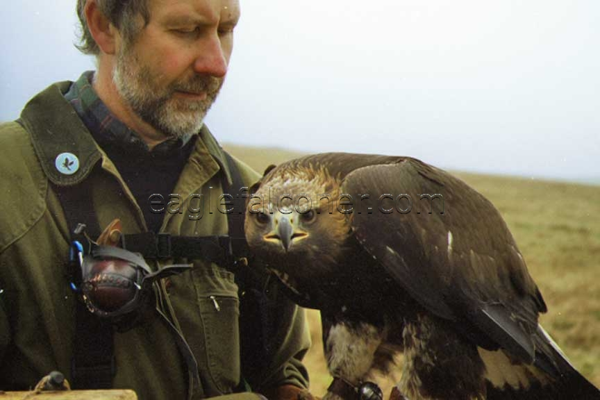 Alan Gates with Golden Eagle