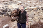 Alan Gates with Mongolian Eagle