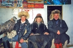 Mongolian eaglehunter family